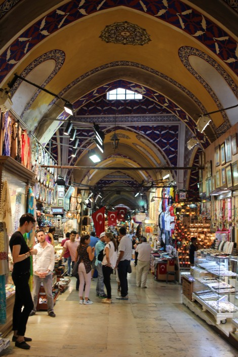 The Grand Bazaar is massive and I was always worried about losing my friend, but I had to stop to take this pic of the ceiling! Love it!