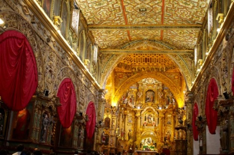 Interior of Iglesia San Fran