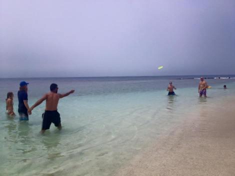 Frisbee at Playa Mero