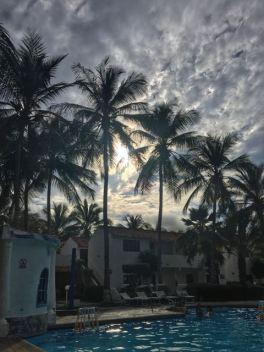 cloudy sunset at El Flamboyant