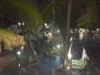 It rained a lot at El Flamboyant hotel