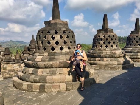 Borobudur with baby